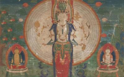 Thangka Eleven Headed Avalokiteshvara