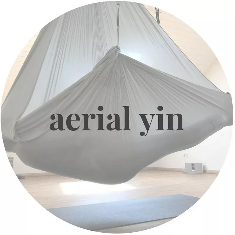 aerial yin yoga