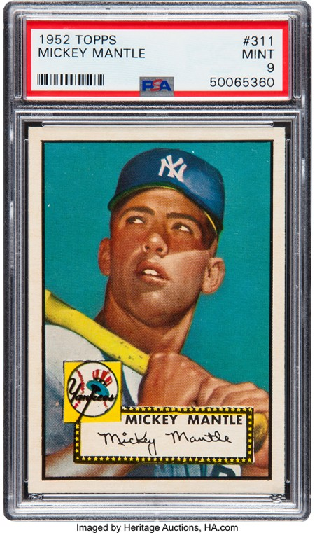 1952 Topps Mickey Mantle Baseball Card Sells for Almost $3 Million