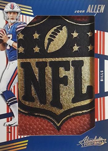 2018 Panini Absolute Football Jumbo NFL Shield Josh Allen