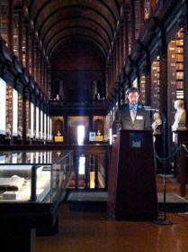 Nicholas Johnson speaking at the 2014 Opening Reception