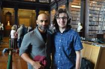 Khaleem Ali and Sam Terry at the opening reception