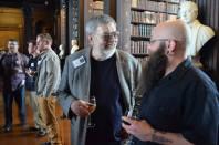 Larry Lund & Scott Hamilton at the launch ceremony, Monday evening