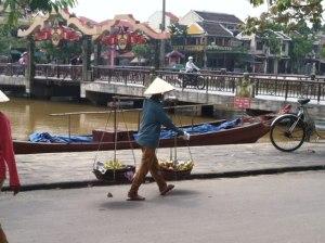 Hoi An city center in Vietnam