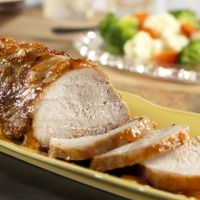 Apricot and Pear Glazed Pork