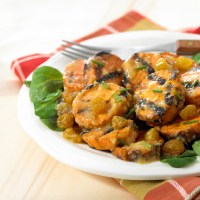 Tangy Sweet Potato and California Raisin Salad