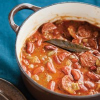 Red Beans Barley and Sausage Stew