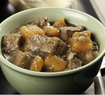 Beef Stew with Bacon and Sweet Potatoes