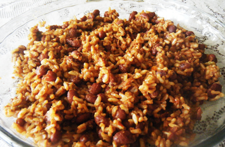 Spicy Yellow Rice with Red Beans