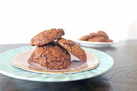 Chewy Brownie Candy Cookies
