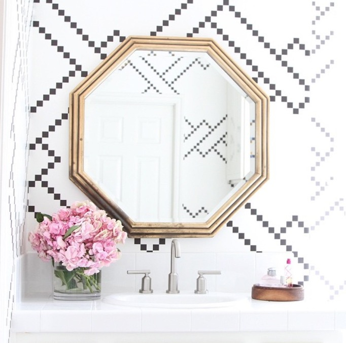 Wisteria Hexagon Mirror Becki owens
