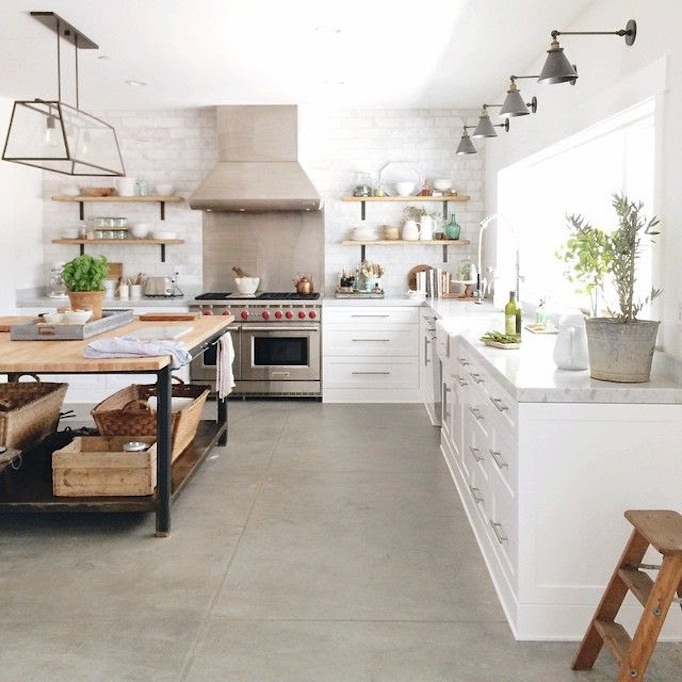 Superior Concrete Floor Kitchen 12 Amazing Pictures