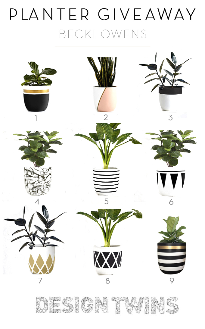 Design Twins Planter Giveaway