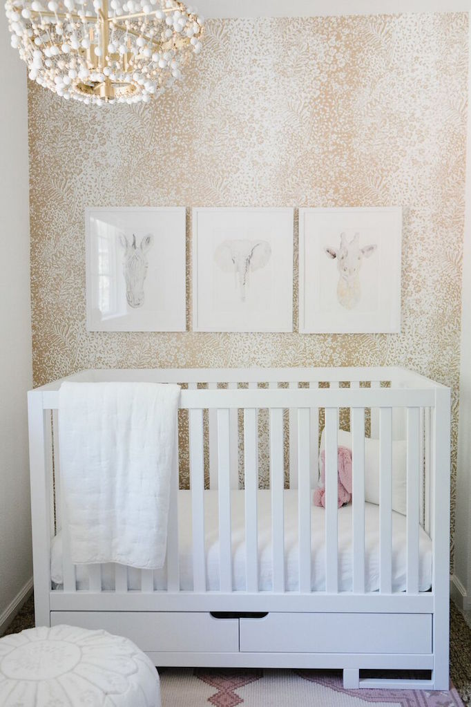 a sweet baby girl nursery for danielle walker of against all