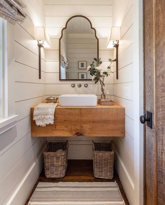 25 Fresh Farmhouse Bathrooms Becki Owens