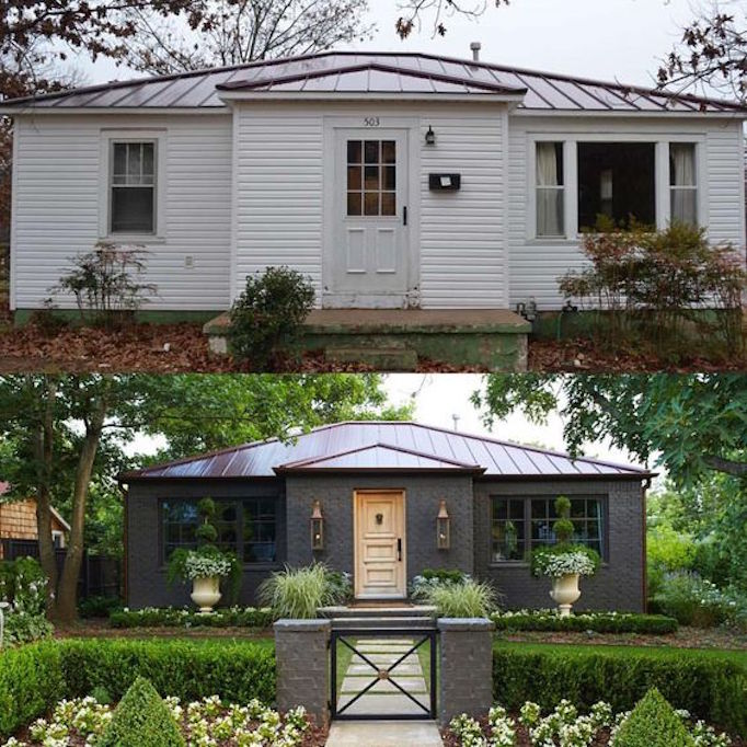 10 inspiring before and after exterior makeoversbecki owens for Home exterior makeover ideas