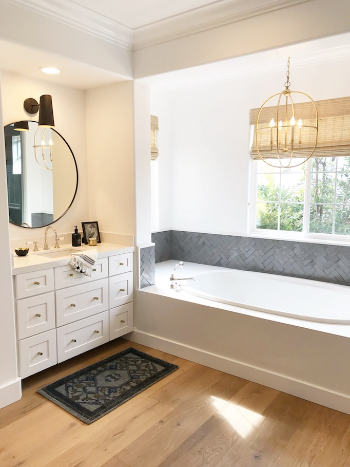 We kept this master bathroom fresh and airy with light wide-plank European oak floors paired with white walls and cabinetry. To break up the warm tones ... & Bathroomspagesepsitename%% azcodes.com