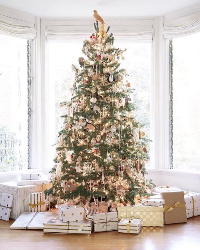 fairy lights are a pretty option for this look and you might think about keeping your ornament color scheme neutral or monochromatic - All About Christmas