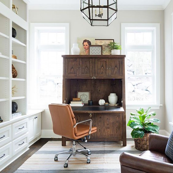 No Space In Your House For An Office? No Problem, Consider Adding A  Secretary To An Unused Corner That Can Be Opened And Closed As Needed.