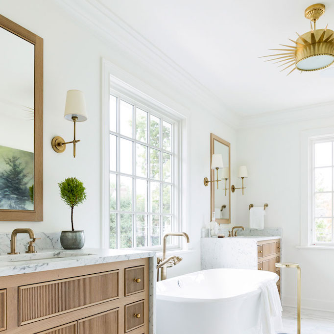 The Cool Toned Foundation And Can Work With Any Style From Midcentury To Traditional Take A Look At Todays Roundup Of Warm Wood Vanities So Pretty