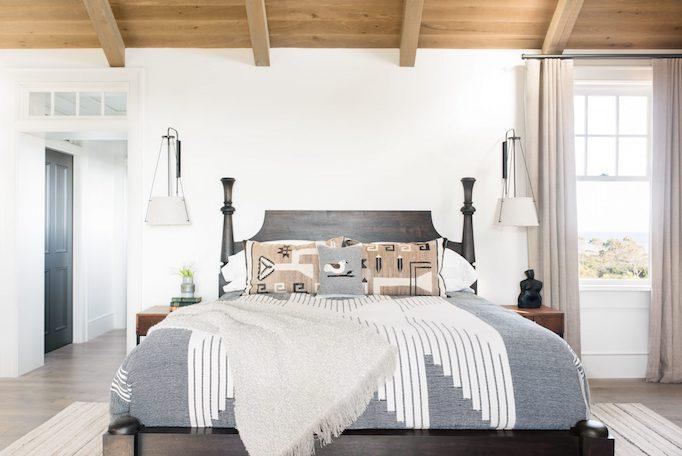 Dormitorio bohemio en casa de playa