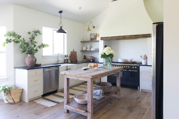 Dream Kitchen Black Brass White And Wood Becki Owens