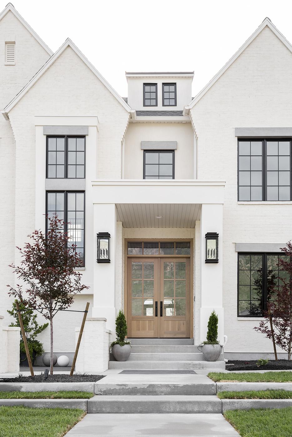Dream Home Modern Tudor White Painted Brick