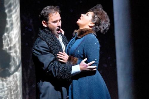 Mariusz Kwiecien (Onegin) and Anna Netrebko (Tatyana) © Ken Howard/Metropolitan Opera