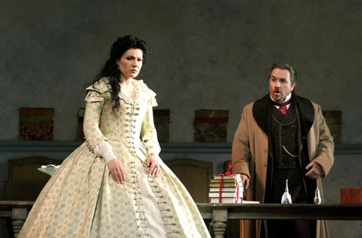 Marina Rebeka (Violetta) and Franoc Vassallo (Germont) © Catherine Ashmore | ROH
