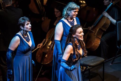 Jeni Bern, Madeleine Shaw and Sarah Castle (Rhinemaidens) © Clive Barda