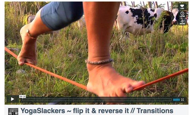 Adi Carter Yoga Slacker Video wearing beckons yoga clothing