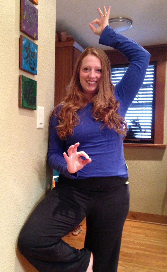 Emily Fite wearing Beckons Yoga Clothing