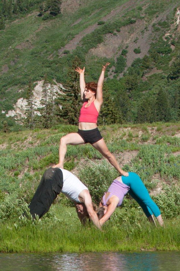 Acro Yoga Amy Olson in Beckons Yoga Clothing