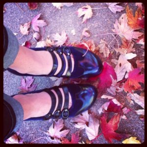 Fluevog Shoes bought by Becky Prater of Beckons Yoga Clothing