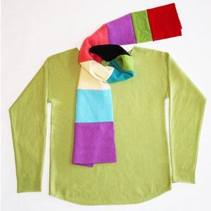 Beckons Yoga Clothing cashmere scarf and beaute neck sweater