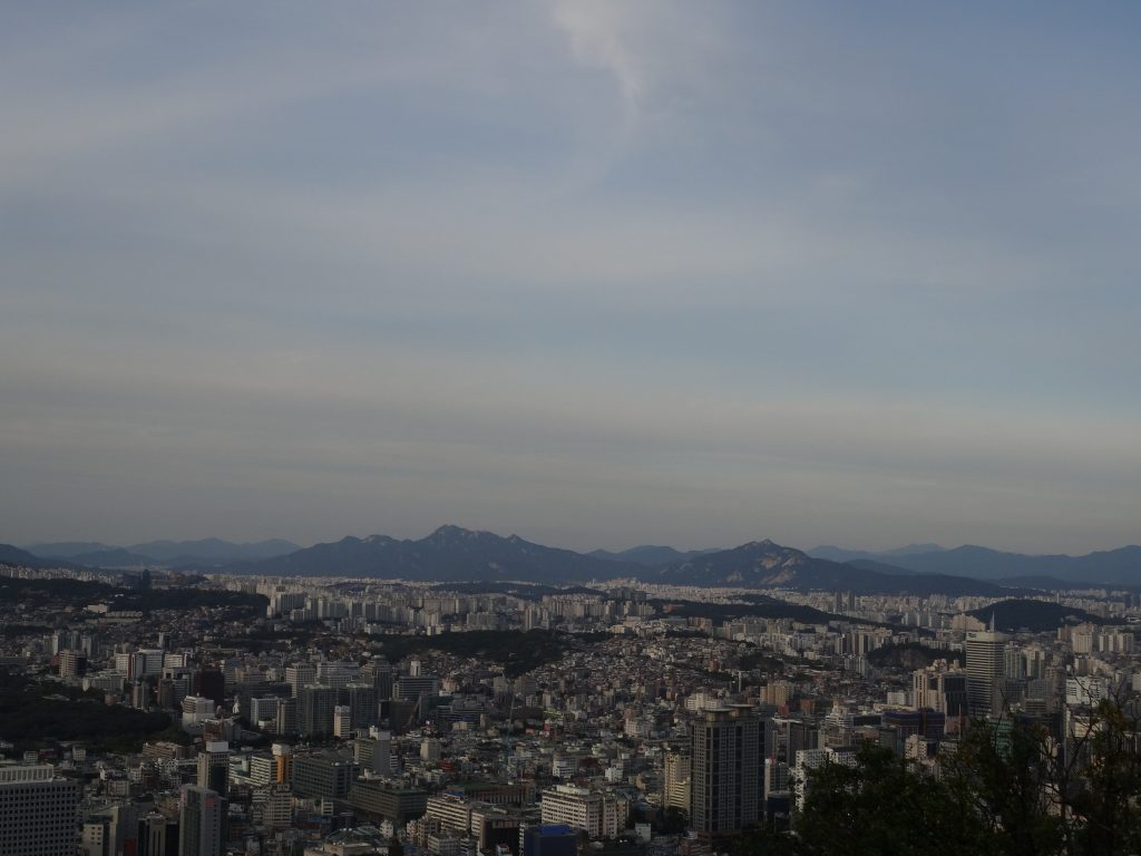 Views from the N Seoul Tower in Seoul