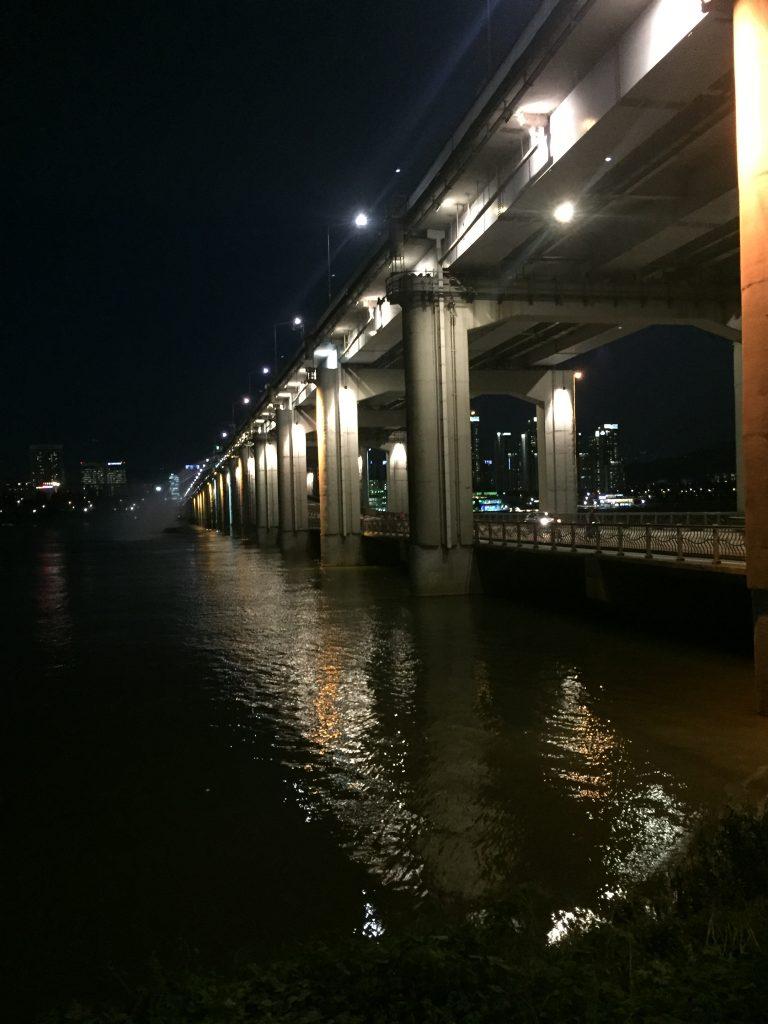 The Banpo bridge at night
