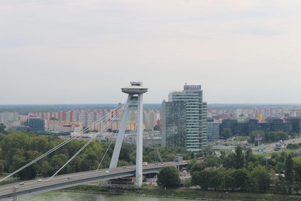 Views of the UFO Bridge Bratislava