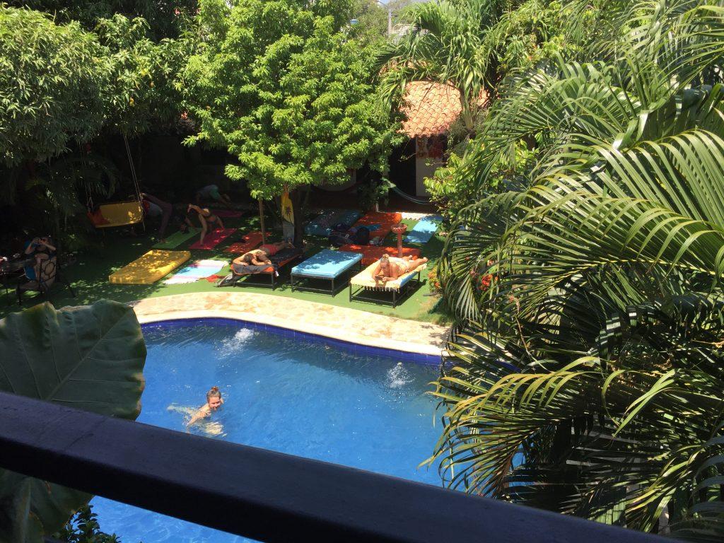 Pool at Dreamer Hostel in Santa Marta, Colombia