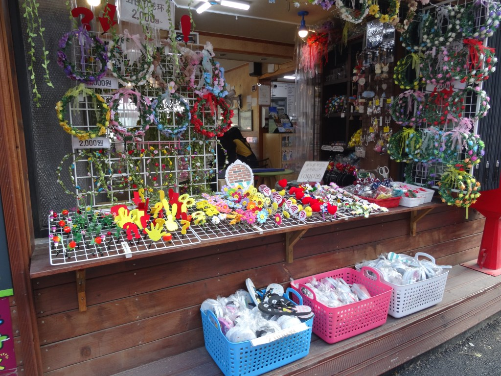 Buying souvenirs in the Gamcheon Cultural Village