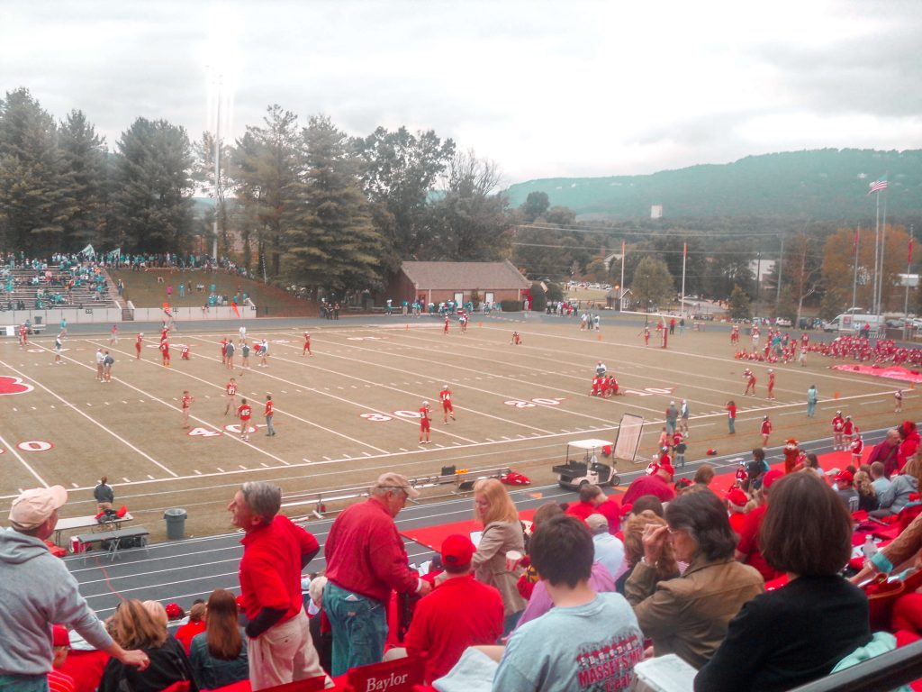 Watching a football game at an American High School in Tennessee