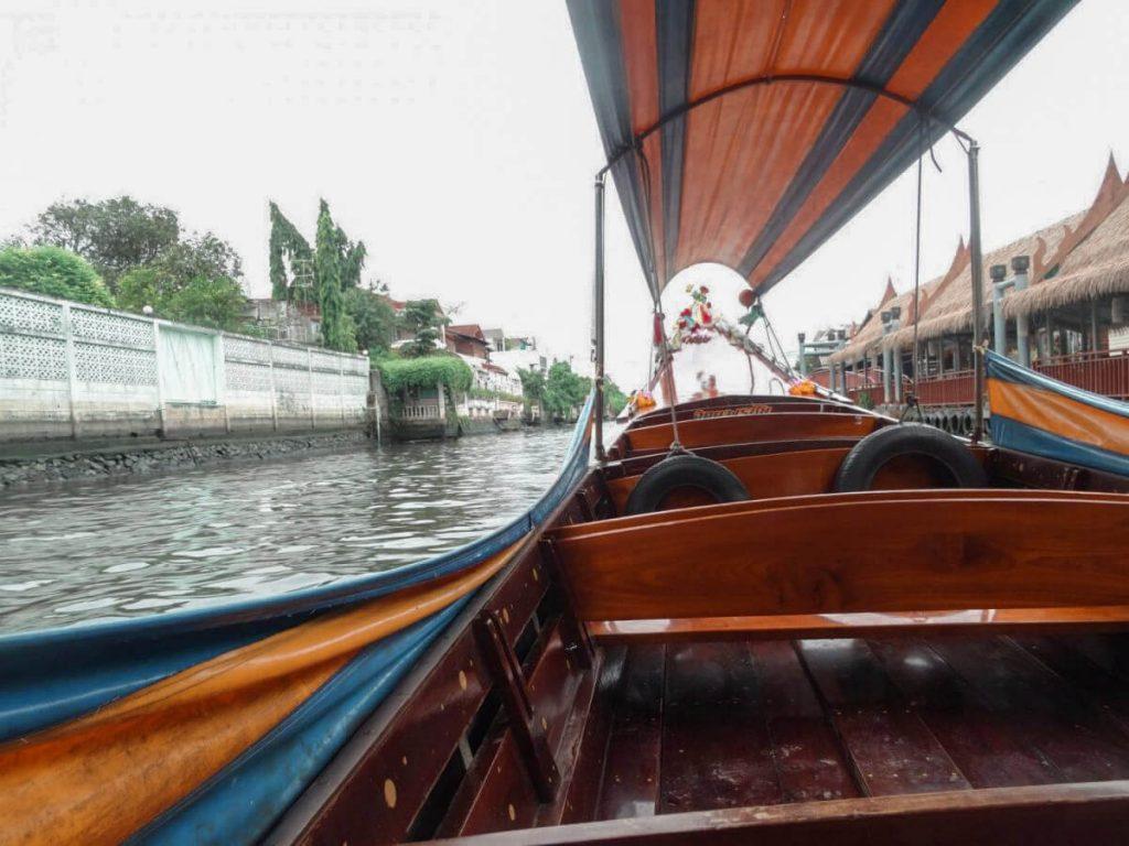 Taking a boat tour in Bangkok, Thailand