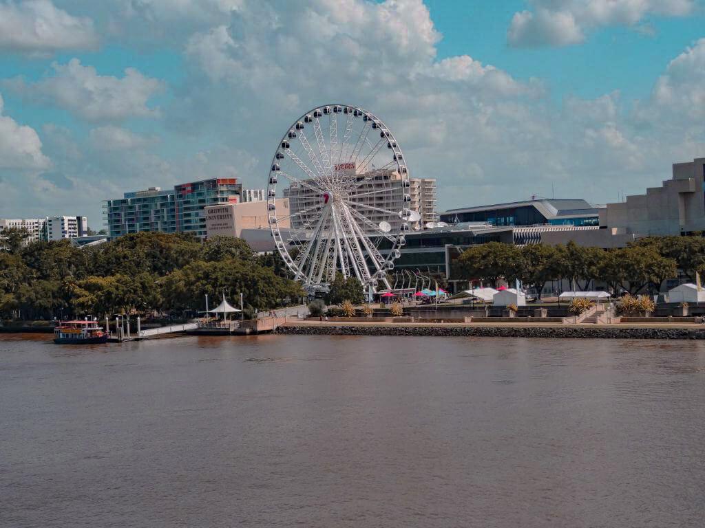 The ferris wheel in Brisbane