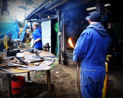 Metal Smith's shop: Lyon & Cook Foundry.