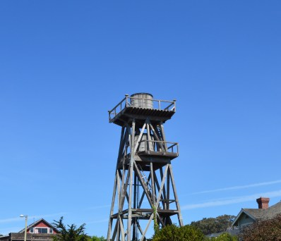 Old water towers of Mendocino.