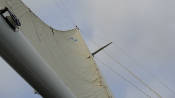 Sails filled with wind equals forward momentum.....
