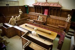 The court room in the Shire Hall
