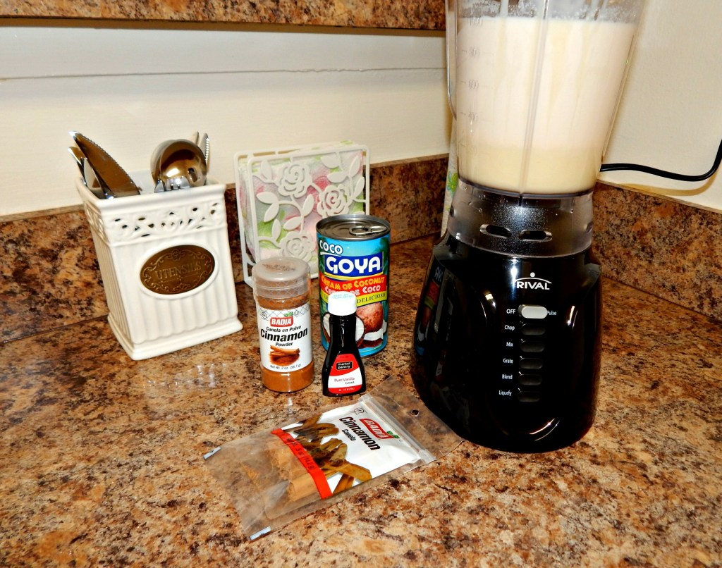 Blended Coquito ingredients