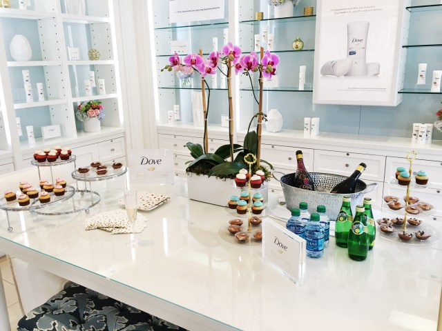 Barba Skin Care champagne and cupcakes far