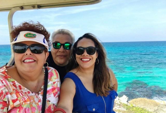 Isla Mujeres group selfie golf cart 2